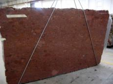 Supply polished slabs 1.2 cm in natural granite TERRACOTTA C_16060. Detail image pictures