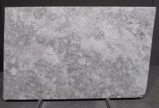 Supply honed slabs 0.8 cm in natural marble TUNDRA GREY 1560M. Detail image pictures