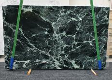 Supply polished slabs 0.8 cm in natural marble VERDE ALPI 1439. Detail image pictures
