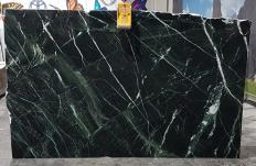 Supply polished slabs 0.8 cm in natural marble VERDE IMPERIALE UL0120. Detail image pictures