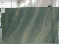 Supply polished slabs 0.8 cm in natural marble VERDE LAGUNA SR_060693. Detail image pictures