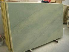 Supply polished slabs 0.8 cm in natural marble VERDE LAGUNA SR_060717. Detail image pictures