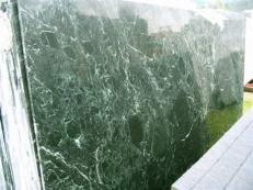 Supply polished slabs 0.8 cm in natural marble VERDE RAMEGGIATO SRC25122. Detail image pictures