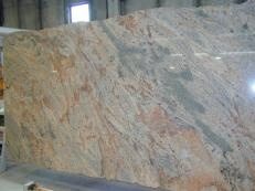 Supply polished slabs 0.8 cm in natural granite VYARA CV1-VY25. Detail image pictures