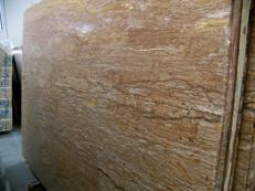 Supply polished slabs 0.8 cm in natural travertine WALNUT TRAVERTINE C-944. Detail image pictures