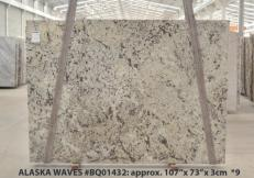 Supply polished slabs 1.2 cm in natural granite WHITE WAVE BQ01432. Detail image pictures