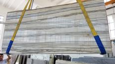 Supply polished slabs 0.8 cm in natural marble Zebrino LV0135. Detail image pictures
