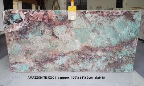 AMAZZONITE polished slabs Z0011 , Slab #18 natural semi precious stone