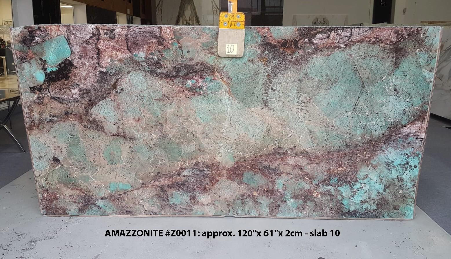 AMAZZONITE Supply Veneto (Italy) polished slabs Z0011 , Slab #10 natural semi precious stone