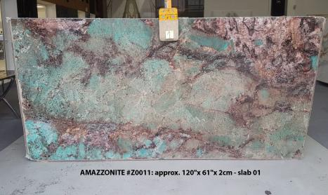 AMAZZONITE Supply (Italy) polished slabs Z0011 , Slab #01 natural semi precious stone
