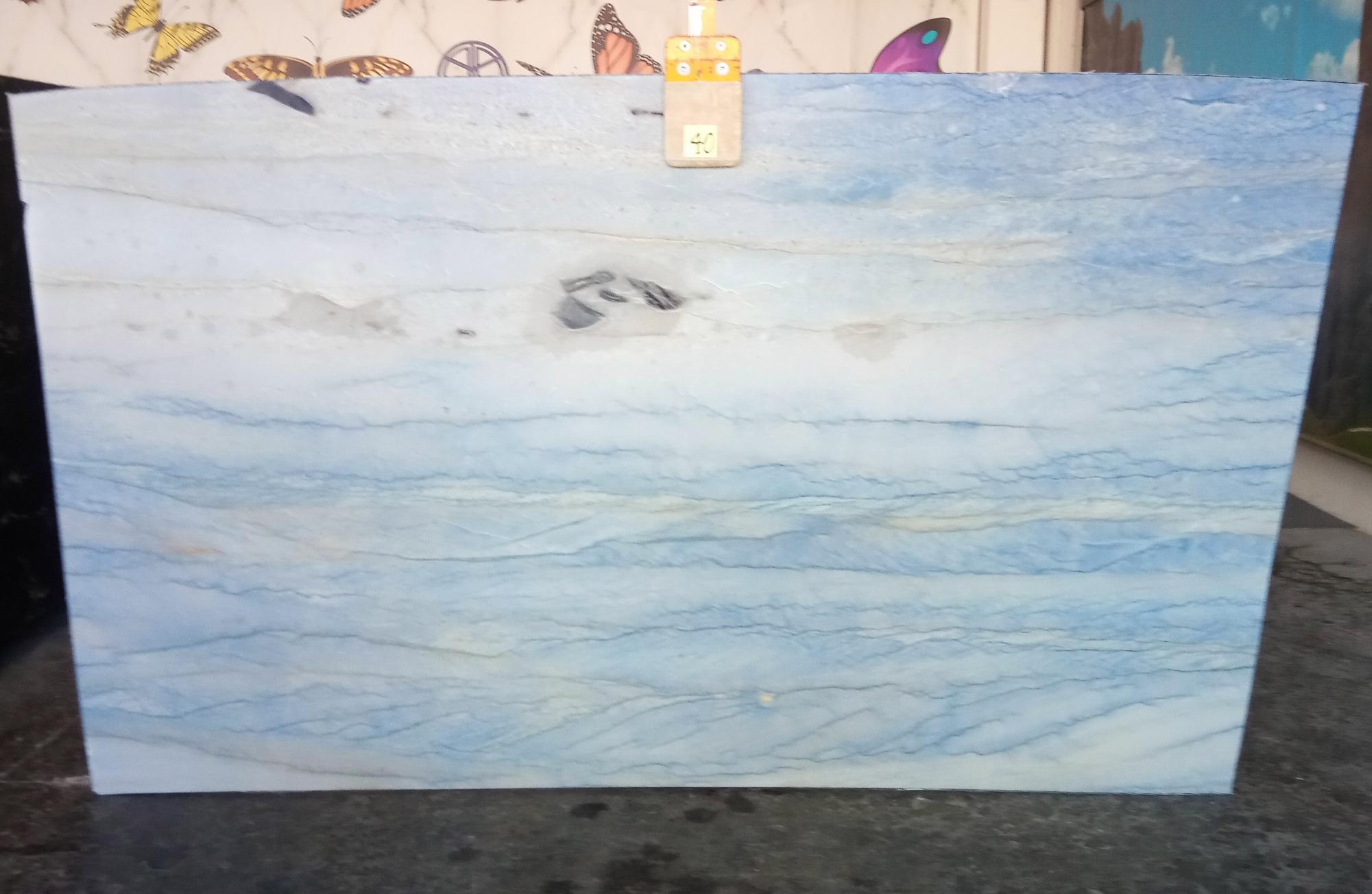 AZUL MAKAUBA Supply Veneto (Italy) polished slabs Z0191 , Slab #40 natural marble