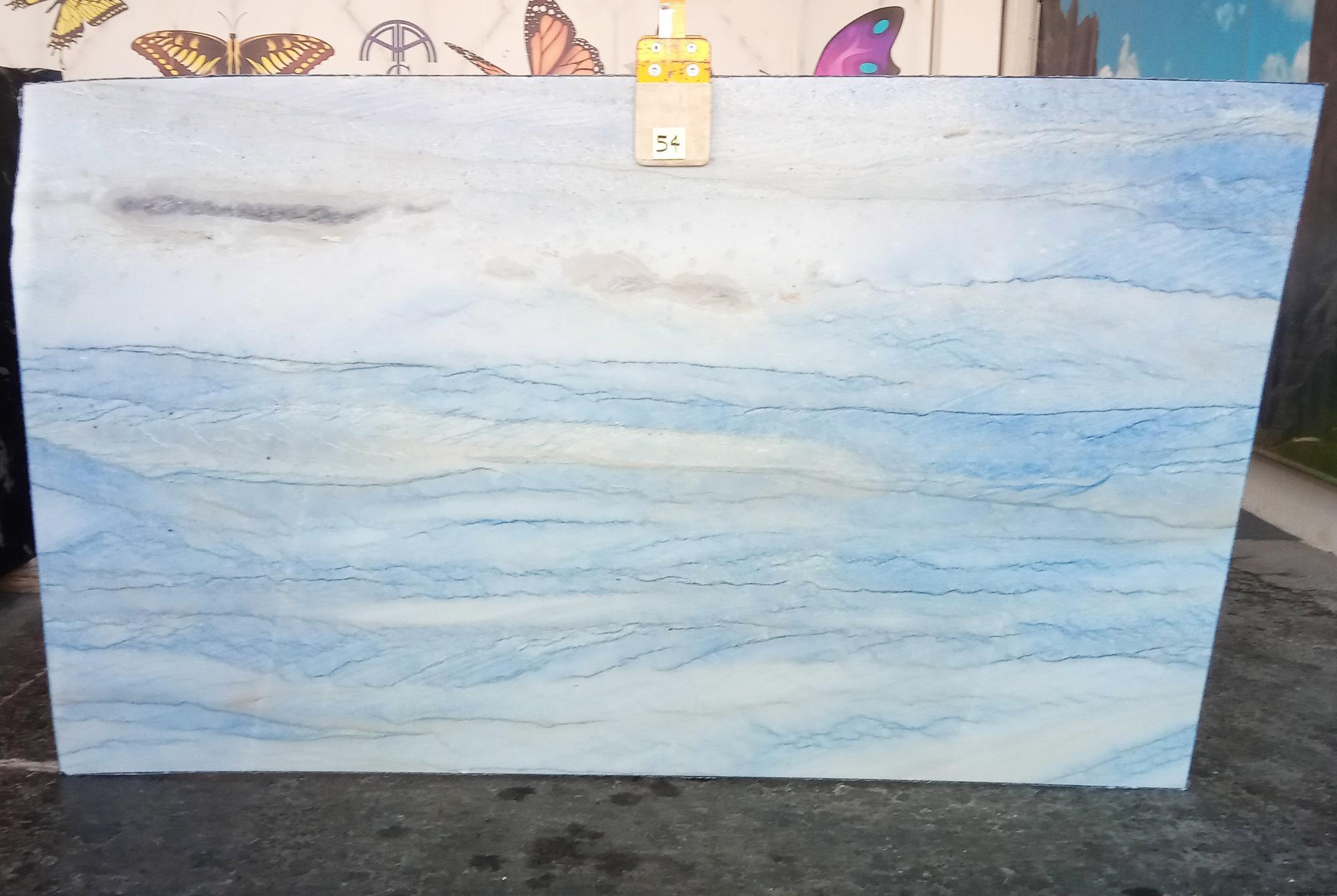 AZUL MAKAUBA Supply Veneto (Italy) polished slabs Z0191 , Slab #54 natural marble