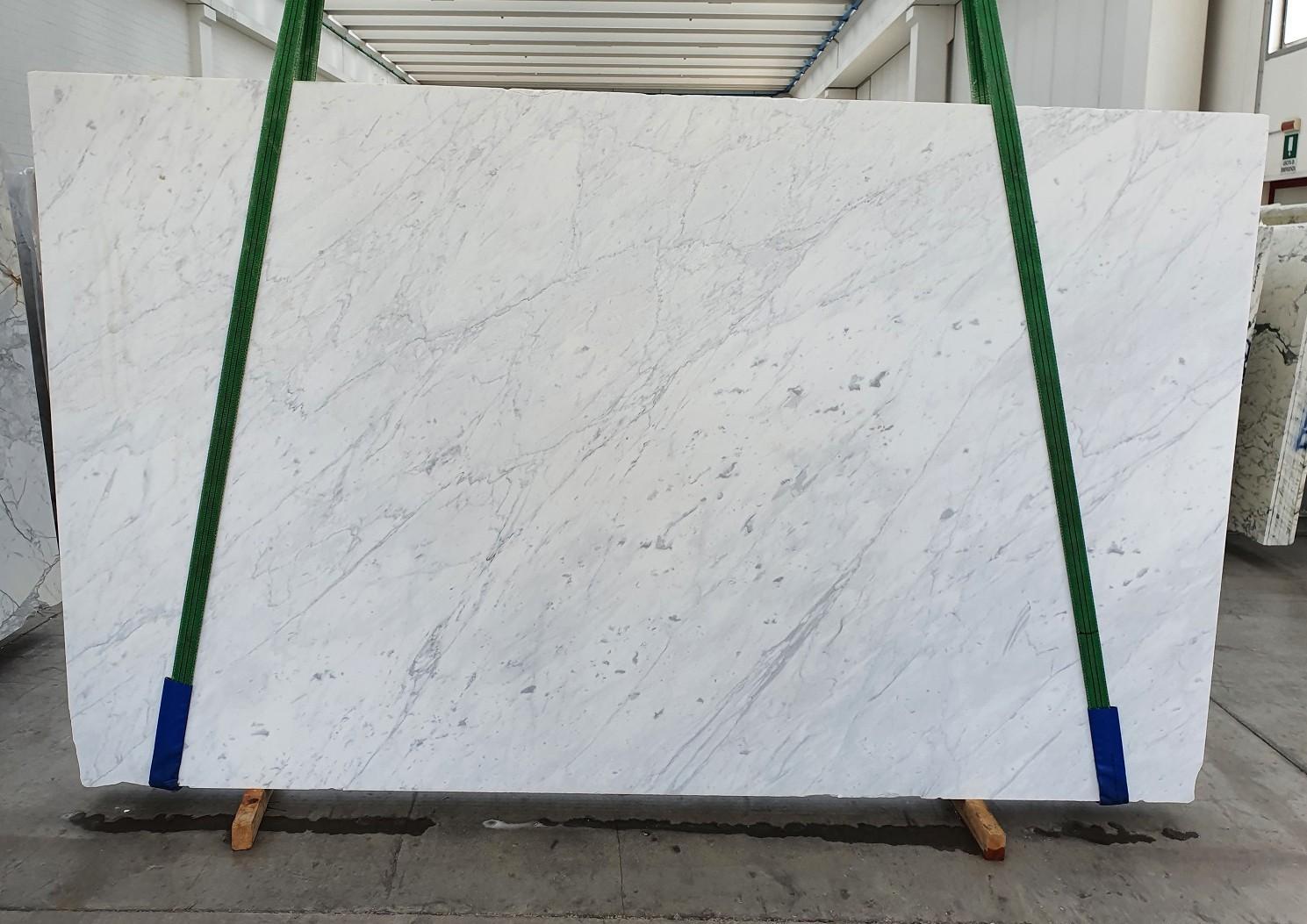 BIANCO CARRARA C Supply Veneto (Italy) polished slabs 1441 , Slab #14 natural marble