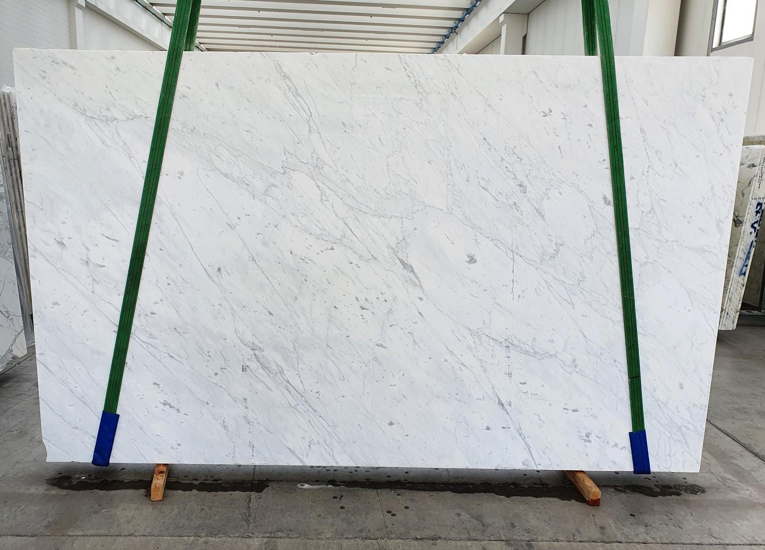 BIANCO CARRARA C Supply Veneto (Italy) polished slabs 1441 , Slab #19 natural marble
