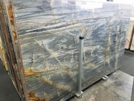 BRITA BLUE Supply Veneto (Italy) polished slabs Z0359 , Slab #24 natural quartzite