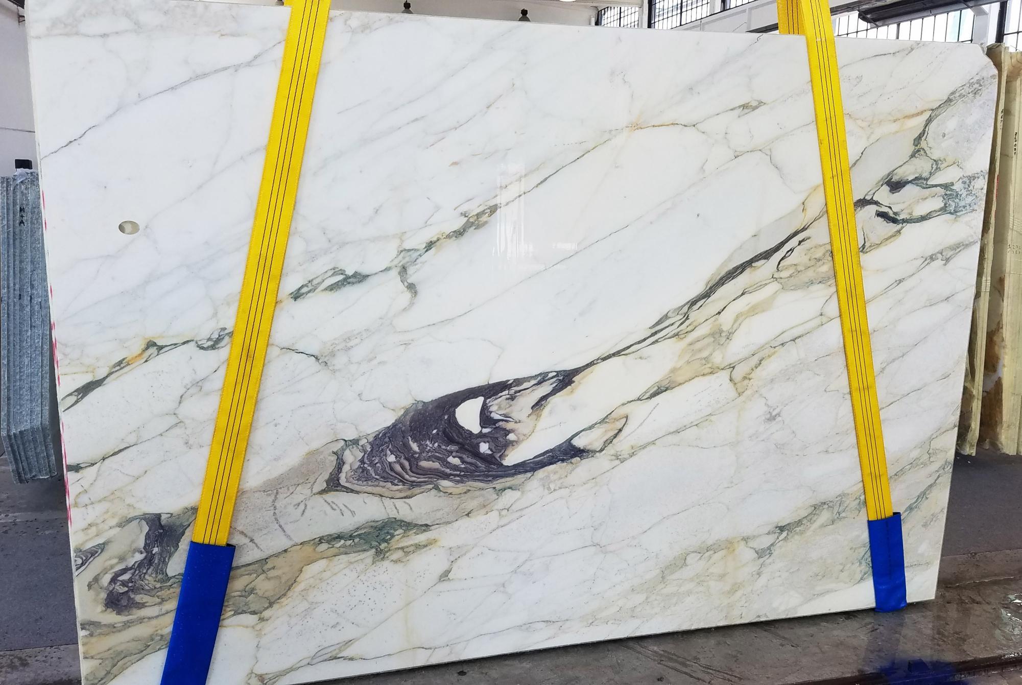 CALACATTA FIORITO Supply Veneto (Italy) sawn slabs U0433 , Slab #08 natural marble