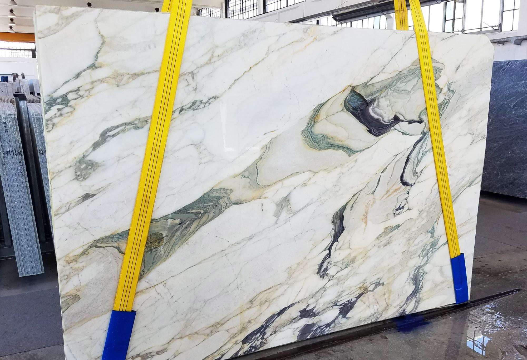CALACATTA FIORITO Supply Veneto (Italy) sawn slabs U0433 , Slab #25 natural marble