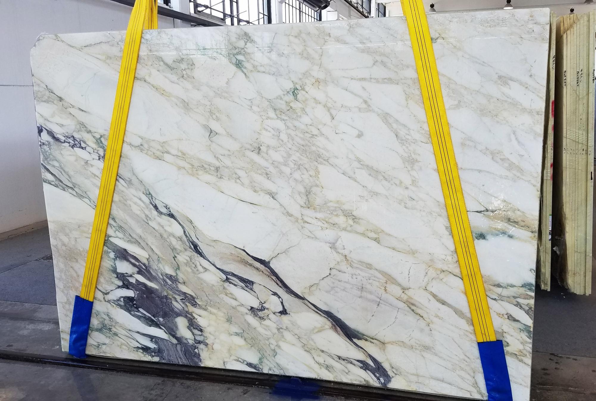 CALACATTA FIORITO Supply Veneto (Italy) sawn slabs U0433 , Slab #34 natural marble