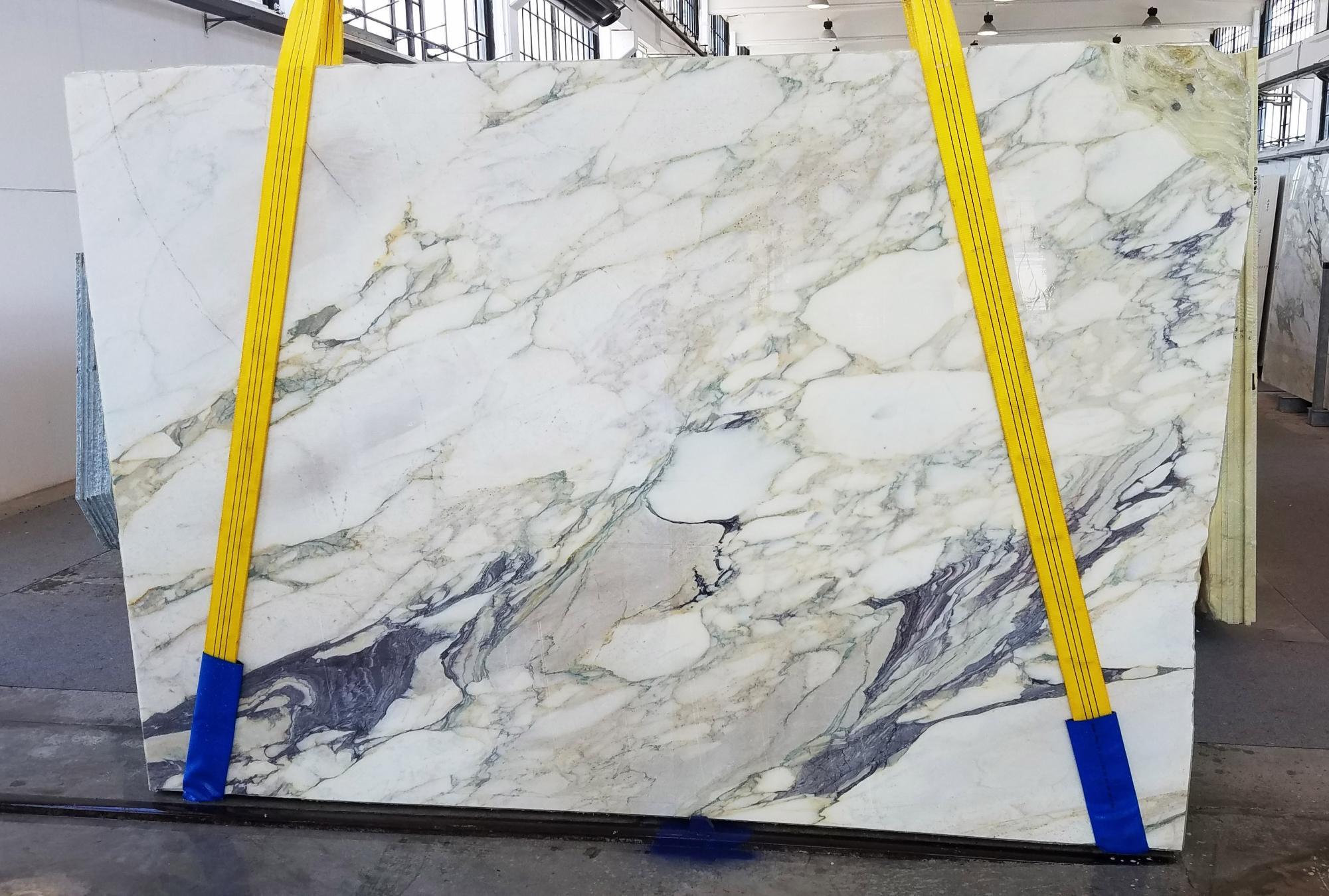 CALACATTA FIORITO Supply Veneto (Italy) sawn slabs U0433 , Slab #42 natural marble