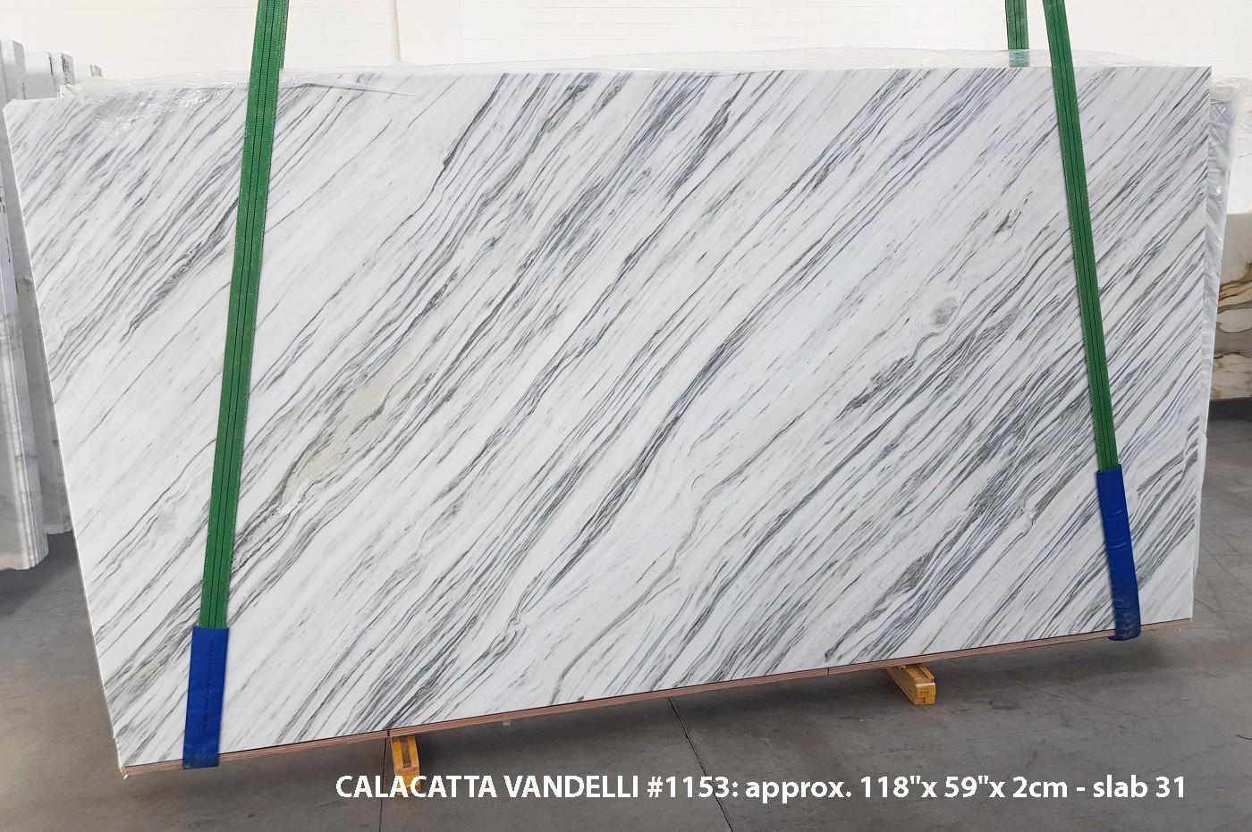 Calacatta Vandelli polished slabs 1153 , Slab #31 natural marble