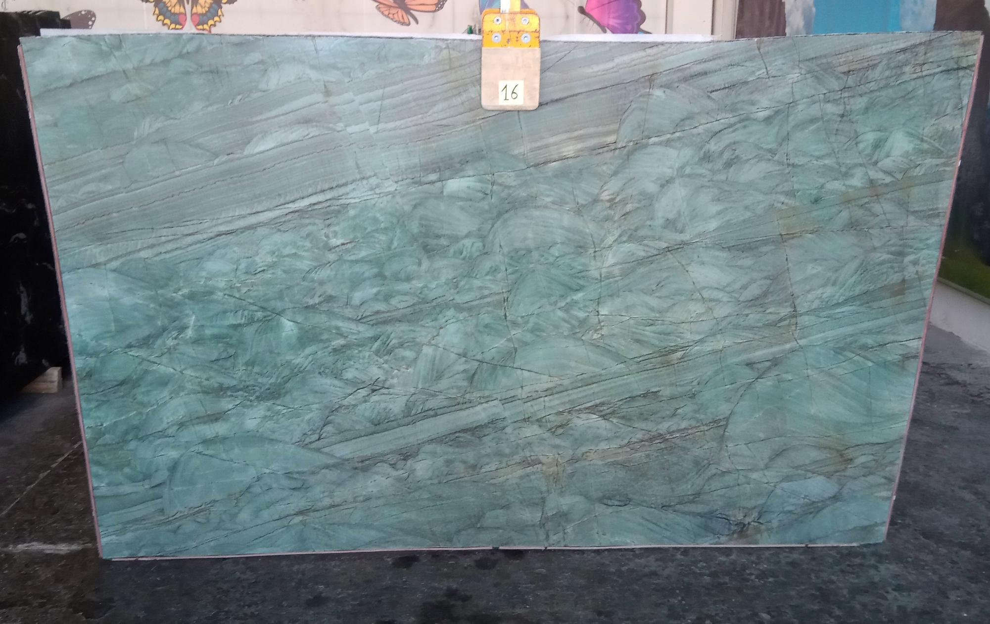 EMERALD GREEN Supply Veneto (Italy) polished slabs Z0209 , Slab #16 natural quartzite