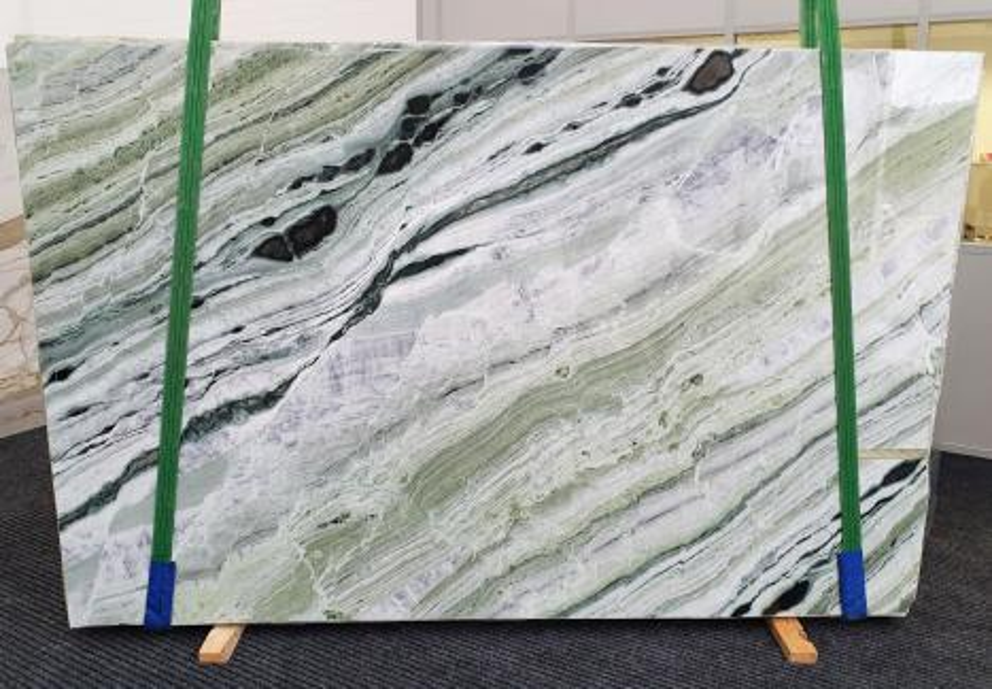 GREEN BEAUTY Supply Veneto (Italy) polished slabs 1452 , Slab #30 natural marble