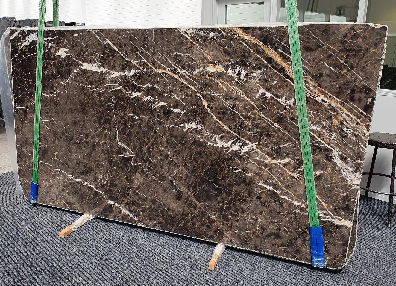 MARRON IRIS Supply Veneto (Italy) polished slabs 1404 , Slab #18 natural marble