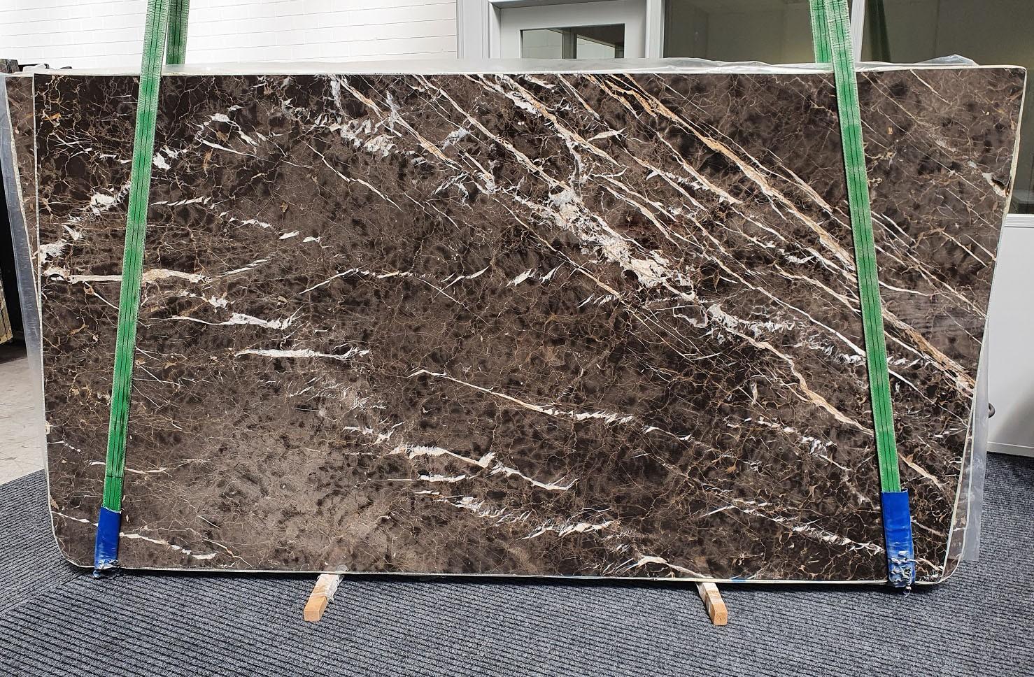 MARRON IRIS Supply Veneto (Italy) polished slabs 1404 , Slab #34 natural marble