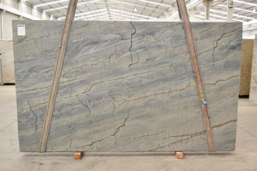 OCEAN BLUE Supply (Italy) polished slabs 2382 , Bnd #26297 natural quartzite