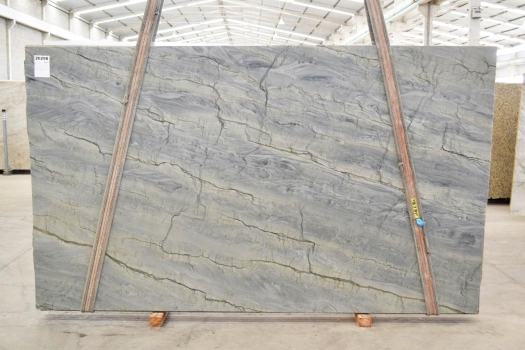 OCEAN BLUE Supply Veneto (Italy) polished slabs 2382 , Bnd #26298 natural quartzite