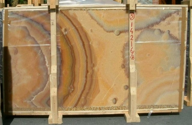 ONICE ARCOIRIS Supply (Italy) polished slabs E-14216/B natural onyx