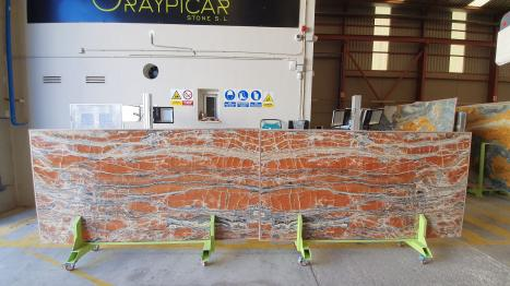 ONICE PASSION Supply Alicante (Spain) polished slabs Sunset , 1 natural onyx