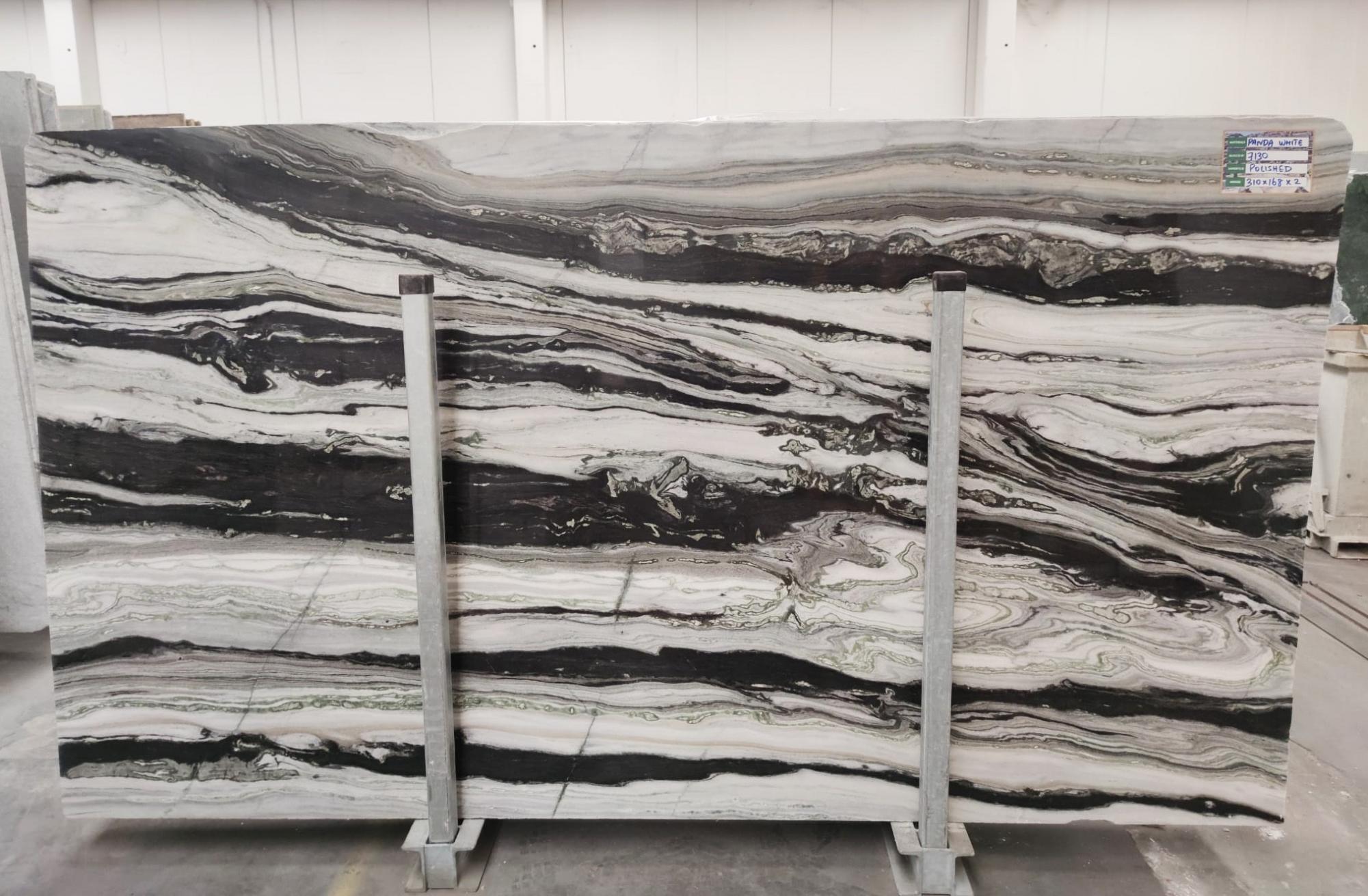 PANDA GREY Supply Veneto (Italy) polished slabs D-7130 , SL3CM natural marble