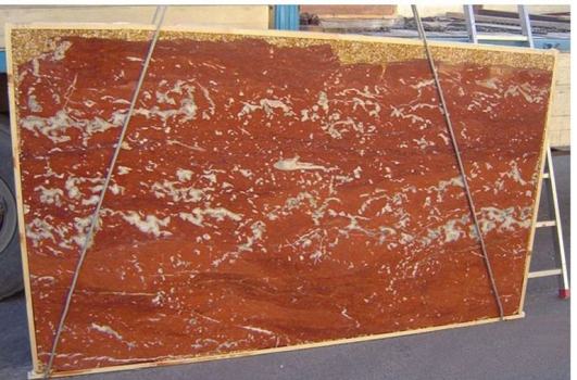 ROSSO FRANCIA LIGHT polished slabs E-2193 natural marble