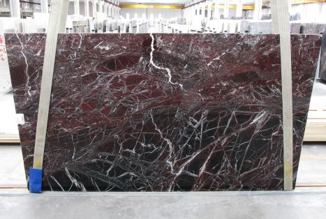 ROSSO LEVANTO Supply Veneto (Italy) polished slabs 1712M , Slab #10 natural marble