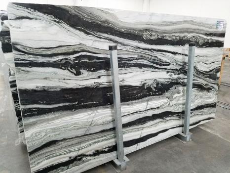 PANDA GREY 26 slabs polished Pakistan marble SL2CM,  122 x 66.9 x 0.8 ˮ natural stone (available in Veneto, Italy)