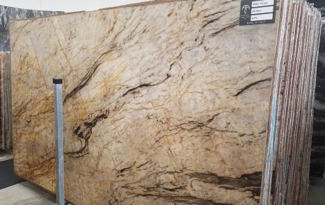 TEMPEST CRISTALLO 39 slabs polished Brazilian quartzite SL2CM,  128.3 x 76.4 x 0.8 ˮ natural stone (available in Veneto, Italy)
