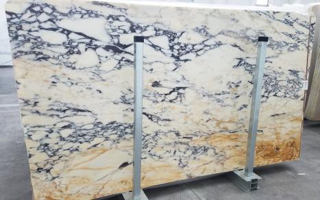 CALACATTA MONETslab polished Italian marble Slab #11,  110.2 x 63 x 0.8 ˮ natural stone (available in Veneto, Italy)