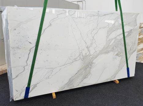 CALACATTA EXTRAslab polished Italian marble Slab #63,  137.8 x 76.8 x 0.8 ˮ natural stone (available in Veneto, Italy)
