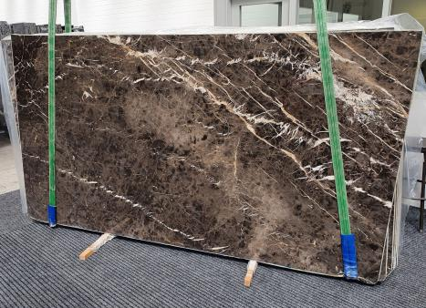 MARRON IRISslab polished Spanish marble Slab #10,  114.2 x 63 x 0.8 ˮ natural stone (available in Veneto, Italy)