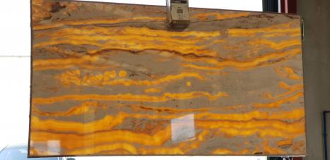 Alabasterslab polished Egyptian onyx 1,  102.4 x 59.1 x 0.8 ˮ natural stone (available in Alicante, Spain)