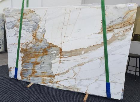 CALACATTA MACCHIAVECCHIAslab polished Italian marble Slab #07,  116.5 x 74.8 x 0.8 ˮ natural stone (available in Veneto, Italy)