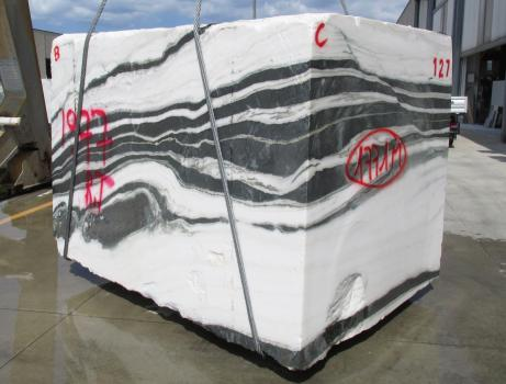 PANDA 1 block rough Chinese marble Face B,  102.4 x 72.4 x 74.8 ˮ natural stone (available in Veneto, Italy)