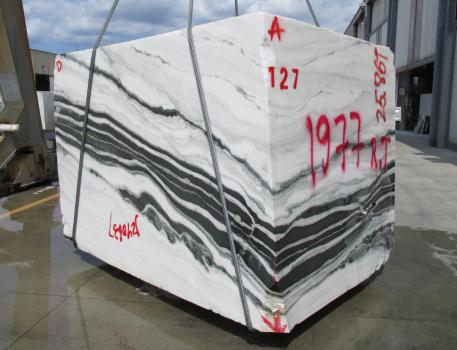 PANDA 1 block rough Chinese marble Face D,  102.4 x 72.4 x 74.8 ˮ natural stone (available in Veneto, Italy)