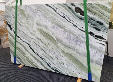 GREEN BEAUTYslab polished Chinese marble Slab #01,  110.2 x 70.9 x 0.8 ˮ natural stone (available in Veneto, Italy)
