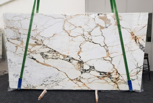 CALACATTA MACCHIAVECCHIA 9 slabs polished Italian marble Bundle #8,  130 x 77 x 0.8 ˮ natural stone (sold in Verona, Italy)
