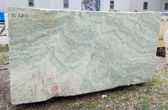 Vert d'Estours 1 block rough French marble Face A,  110 x 59 x 64 ˮ natural stone (available in Veneto, Italy)